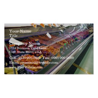 O supermercado fino da carne fresca opor no superm modelo cartões de visita