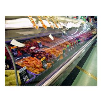 O supermercado fino da carne fresca opor no superm cartão postal