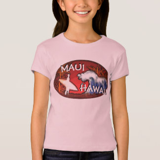 O surfista cor-de-rosa de Maui Havaí das meninas Camisetas