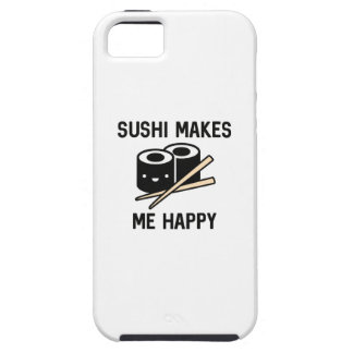 O sushi faz-me feliz capa para iPhone 5