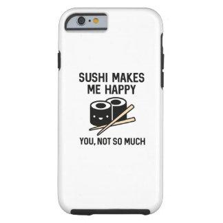 O sushi faz-me feliz capa tough para iPhone 6