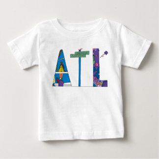 O T | ATLANTA do bebê, GA (ATL) Camiseta Para Bebê