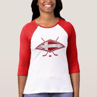 O T das mulheres dinamarquesas do logotipo da Camiseta