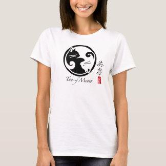 O T das mulheres dos gatos de Yin Yang (muito Camiseta