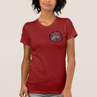 O T das senhoras do sistema de alimentação de T-shirts