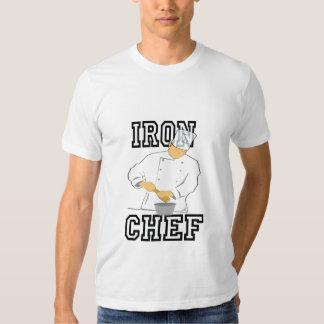 O T dos homens do cozinheiro chefe do ferro T-shirt