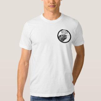 O T dos homens do sistema de alimentação de T-shirts