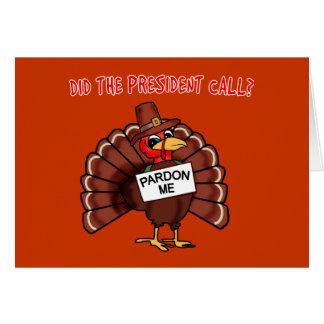 O T engraçado do perdão de Turquia fez o Cartão Comemorativo
