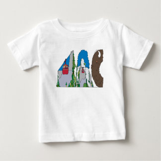 O T | JACKSON HOLE do bebê, WY (JAC) Camiseta Para Bebê