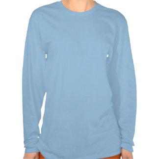 O T Longo-Sleeved das senhoras do sistema de alime T-shirt