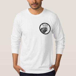 O T Longo-Sleeved dos homens do sistema de Tshirt