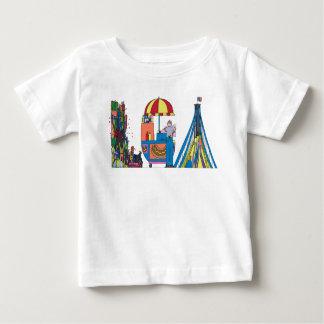 O T   NEW YORK do bebê, NY (LGA) Camiseta Para Bebê