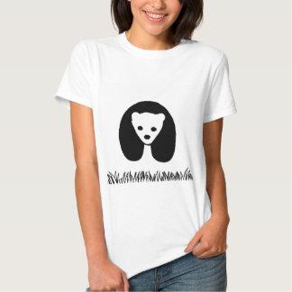 O t-shirt básico das mulheres da panda