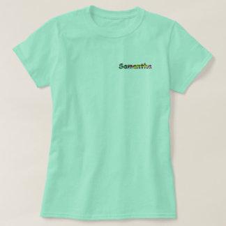 O t-shirt básico das mulheres de Samantha Camiseta