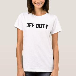 O t-shirt básico das mulheres FORA DE SERVIÇO Camiseta