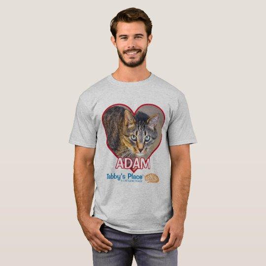 O t-shirt básico dos homens - Adam Camiseta