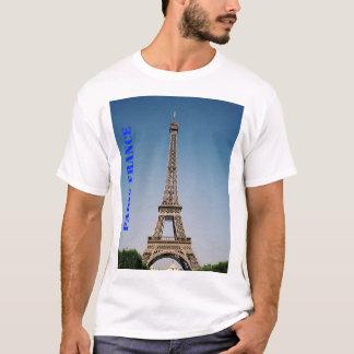 O t-shirt básico dos homens da torre Eiffel de Camiseta