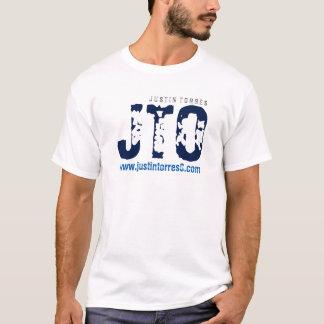O t-shirt branco básico dos homens de Justin Camiseta