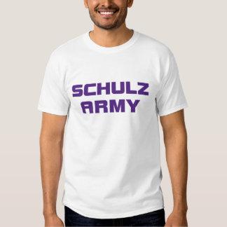 O t-shirt branco dos homens do exército de Schulz