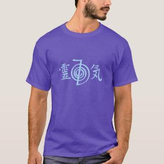 O t-shirt branco dos homens dos símbolos do poder camiseta
