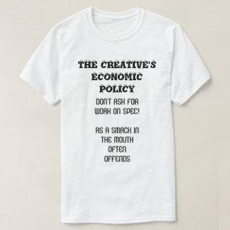O t-shirt criativo da política