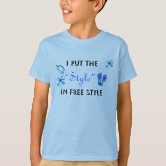O t-shirt da criança do estilo livre camiseta