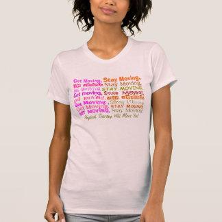 O t-shirt da fisioterapia obtem mover-se movente d