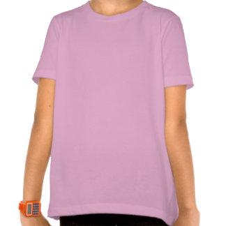 O t-shirt da menina da menina do surfista