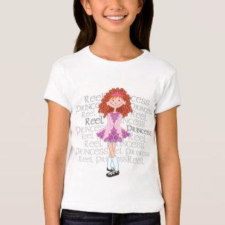 O t-shirt da menina do Redhead do carretel