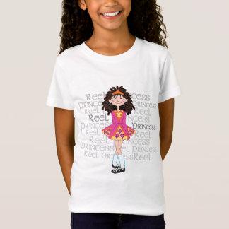 O t-shirt da menina triguenha do carretel camiseta