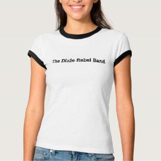O t-shirt da mulher da banda do rebelde de Dixie