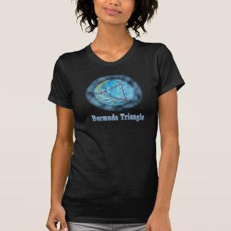 O t-shirt da mulher do triângulo de Bermuda Camiseta