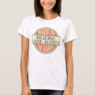 O t-shirt das mulheres da leitura do amante de camiseta