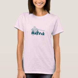 O t-shirt das mulheres da matriz camiseta