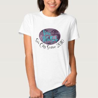 O t-shirt das mulheres da reunião de VWS Sin City
