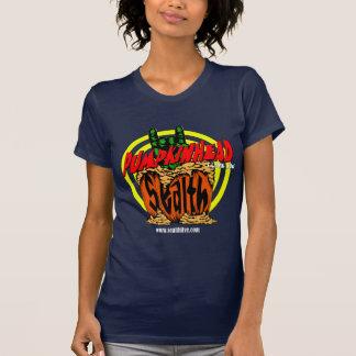 O t-shirt das mulheres da rocha do zombi