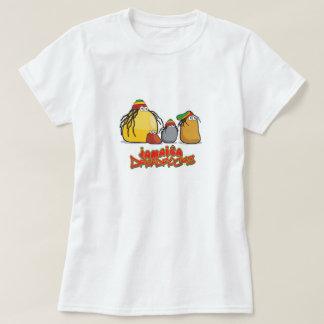 O t-shirt das mulheres de Jamaica Dreadrocks Camiseta