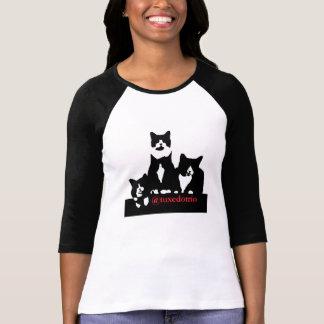 O t-shirt das mulheres de TuxedoTrio Camiseta