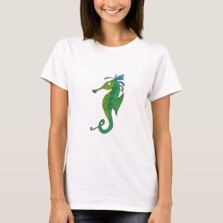O t-shirt das mulheres do cavalo marinho camiseta