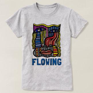 """O t-shirt das mulheres do """"fluxo"""" camiseta"""