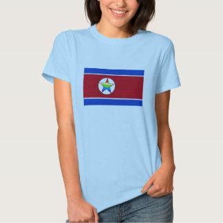 O t-shirt das mulheres do orgulho da Coreia do
