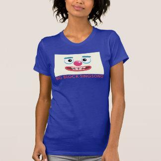 O t-shirt das mulheres do palhaço de BBSS