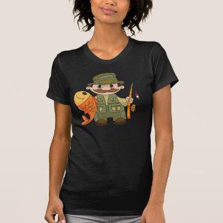 O t-shirt das mulheres do pescador