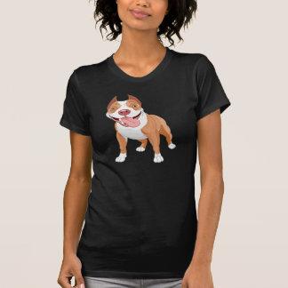 O t-shirt das mulheres do pitbull