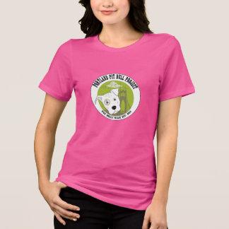 O t-shirt das mulheres do projeto do pitbull de Po