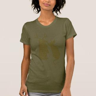 O t-shirt das mulheres engraçadas domesticadas dos camiseta