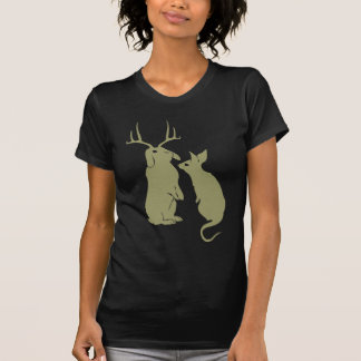 O t-shirt das mulheres engraçadas dos coelhos camiseta