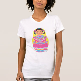 O t-shirt das mulheres mexicanas de Matryoshka do