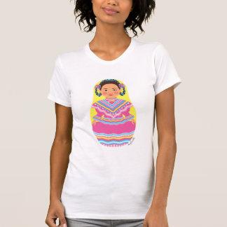 O t-shirt das mulheres mexicanas de Matryoshka do Camiseta