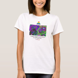 O t-shirt das mulheres para a expressão criativa camiseta
